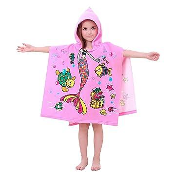 Los niños de la toalla de baño (2 - 10 años, algodón playa Kid s capucha Toallas, ...