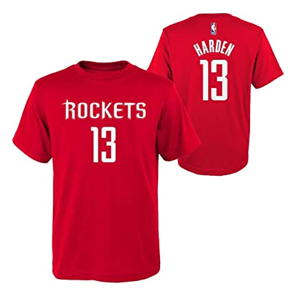 buy popular 89bfd 2aec8 Genuine Stuff Houston Rockets Youth James Harden NBA Name and Number  T-Shirt - Red,