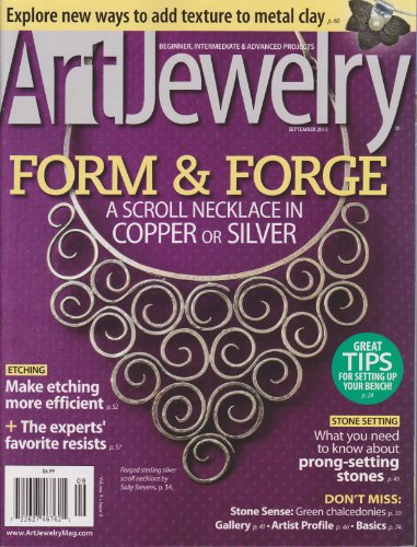 Art Jewelry Magazine September - Lapidary Artist Journal Jewelry Magazine