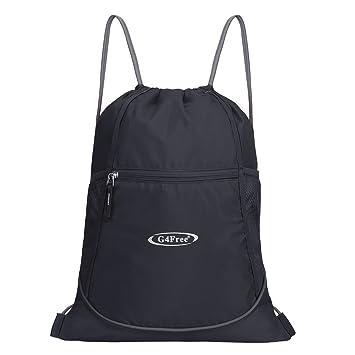 bc9b268b5914 G4Free Drawstring Gym Bag Backpack Gymsack for Adults and Teenagers  Swimming Bag Sports Bag Kids School