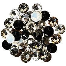 144 pcs (1 gross) Swarovski 2058 Xilion / 2088 Xirius Rose crystal flat backs No-Hotfix rhinestones nail art BLACK & WHITE Colors Mix ss20 (4.7mm) **FREE Shipping from Mychobos (Crystal-Wholesale)**