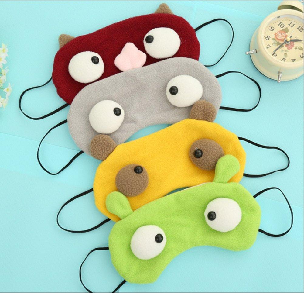 Fruit vert Doitsa Sommeil Cartoon Protection Lunettes en Peluche Apaiser Les Nerfs Respirant Des Lunettes Masque pour Les Yeux Pendant la Journ/ée//Nuit