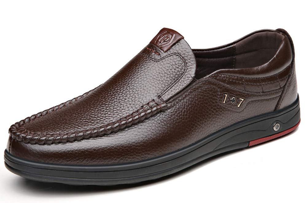 98b0a7ccf MST Men s Leather Leather Leather Breathable Casual Shoes Slip On Loafers  Flats Dress Moccasin Driving Shoes