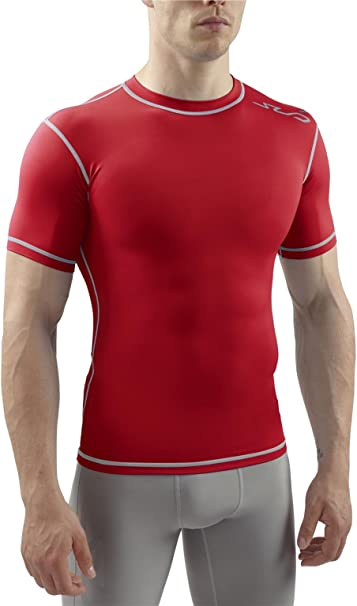 White Sub Sports Elite RX Short Sleeve Mens Comprtession Top
