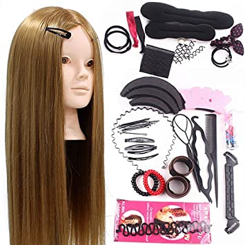 Neverland 17inch 17% Real Hair Training Head Hairdressing ...