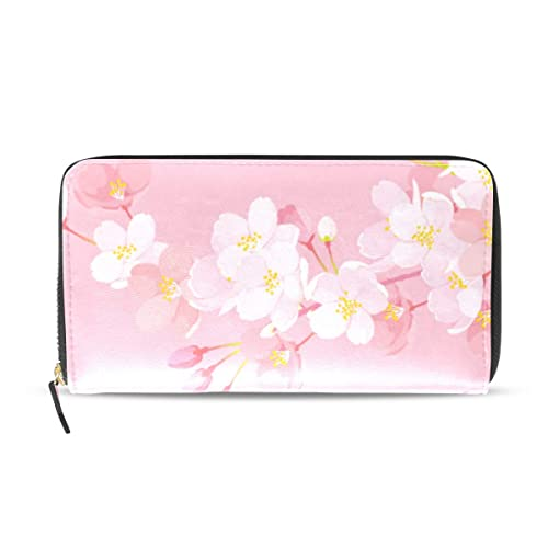 Romántico Sakura Pink Flora Largo Pasaporte Embrague ...