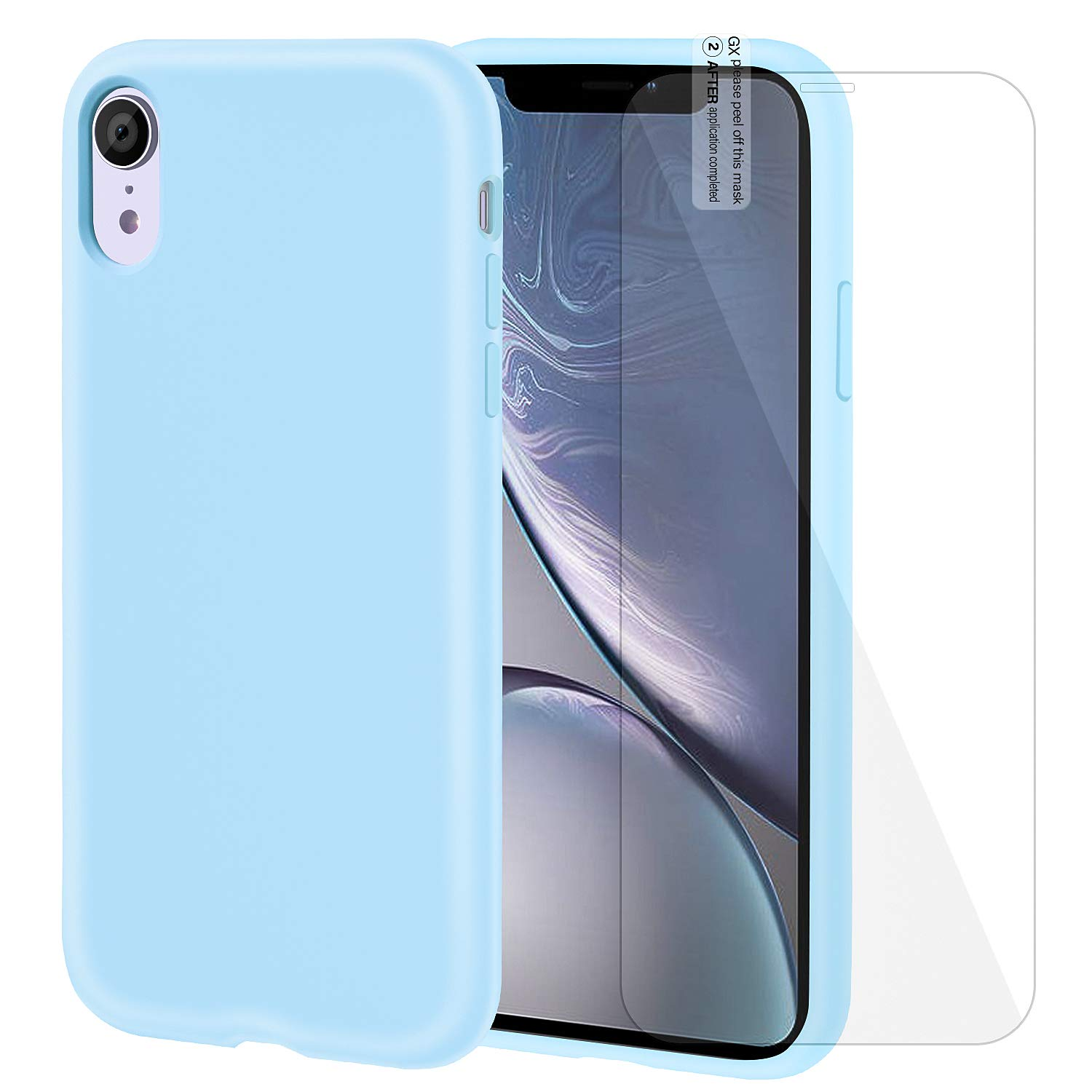blue silicone iphone xr case