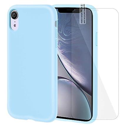 Amazon.com: Funda de silicona para iPhone XR con protector ...