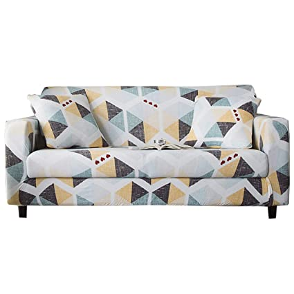 FORCHEER Stretch Sofa Slipcover Printed Pattern 2-Seat Spandex Couch Cover for 3 Cushion Couch 1 Piece Furniture Protector for Living Room, Pets, ...