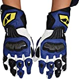 Sdcvopl Protective Gloves Motorcycle Protective Gloves Cycling Mountain Bike Men Gloves for Motorbike Cycling Racing Ventilation (Color : Blue, Size : M)