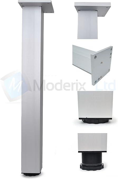 1 x Gamba piede alluminio per tavolo scrivania 710x60x60mm