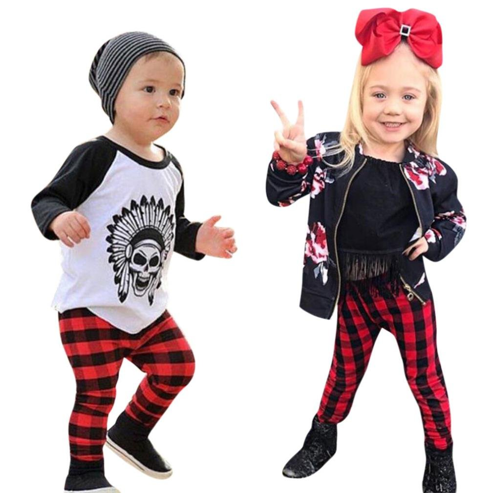 DIGOOD Toddler Baby Boys Girls Fashion Plaid Pants, For 0-3 Years Old, Warm Trousers Leggings Clothes DIGOOD_Pants