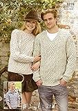 Sirdar Bonus Aran Ladies Mens Knitting Pattern 9219