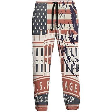 Estampilla con la Casa Blanca en Washington DC Pantalones de ...
