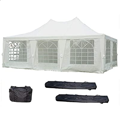 DELTA Canopies 23'x16.5' Wedding Party Tent Canopy Gazebo Heavy Duty Water Resistant White : Family Tents : Garden & Outdoor