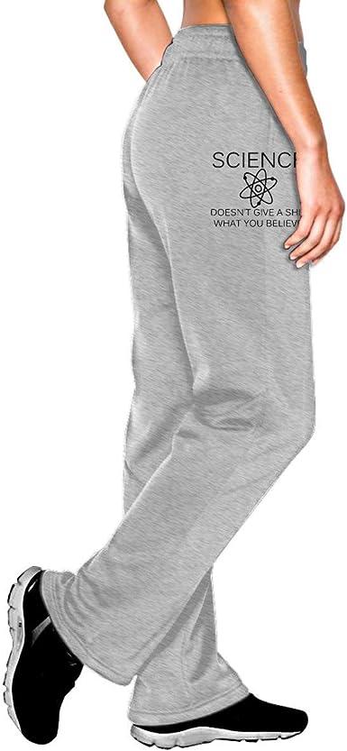 Hdadwy Pantalones De Chandal Tipo Jogging Para Mujer A La Ciencia No Le Importa Una Mierda Lo Que Creas Pantalones Deportivos De Felpa Con Cintura Elastica Amazon Es Ropa Y Accesorios