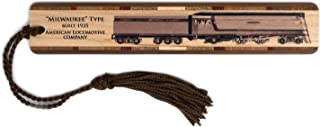 product image for Historic Milwaukee Style Locomotive Train - Handmade Wooden Bookmark with Tassel
