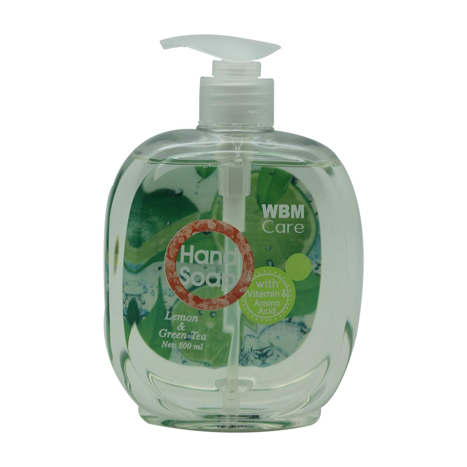 WBM Care Natural Liquid Hand Soap with Lemon & Green Tea,Cleanse and Moisturize Your Hands - 16.9 Ounce
