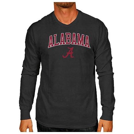 1495ae14 Elite Fan Shop Alabama Crimson Tide Vintage Long Sleeve Tshirt Charcoal  Victory - M