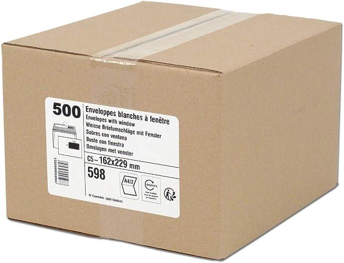 GPV - Caja con sobres para cartas (500 unidades, solapa ...
