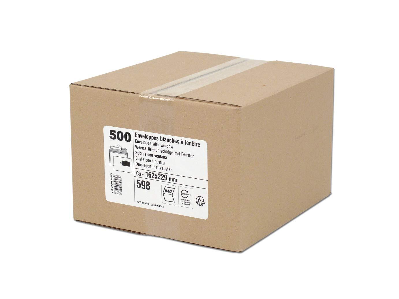 GPV Buste in formato C5 80 g 162 x 229 mm con finestra 45 x 100 mm in carta riciclata colore: bianco confezione da 500