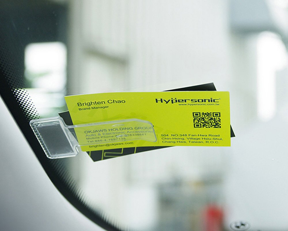 Hypersonic Car Windscreen Parking Ticket Holder Permit and Note Clips O AND K JAWS CO. LTD.