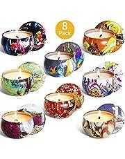 McNory 8 Pack Regalo de Velas Perfumadas,Velas Aromaticas,Cera de Soja Natural,Aromaterapia Decoración para Relajación Fiesta Boda Baño Yoga Cumpleaños Navidad Día de San Valentín Regalos