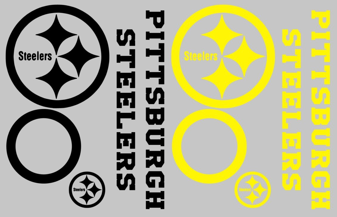 Amazon.com: Pittsburgh Steelers Cornhole Decal Set - FREE circles ...