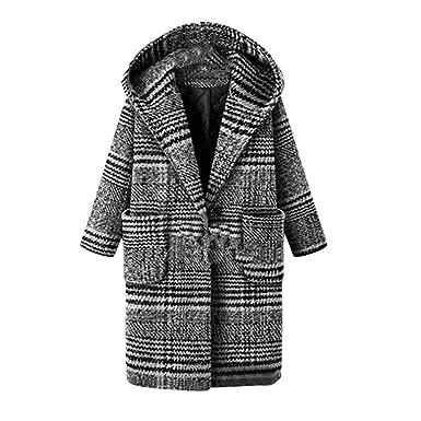 Logobeing Chaquetas Mujer Invierno Tallas Grandes Abrigo Sudaderas Jersey Suéter Cardigan Mujer Abrigo Enrejado Abrigo Cálido Abrigo de Lana Outwear