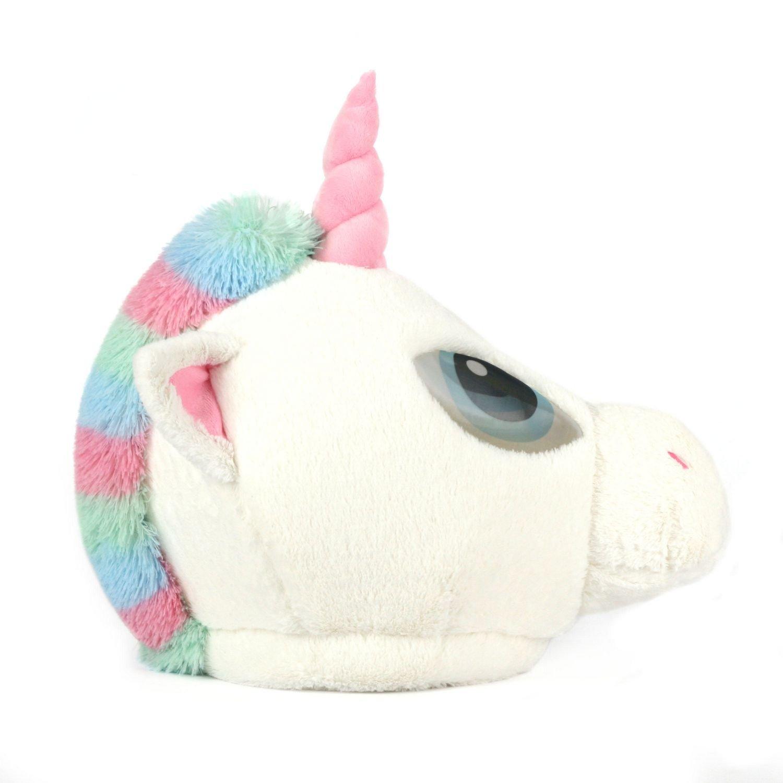 Oversized Plush Unicorn Costume Mask Pastel Colors