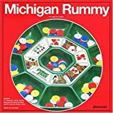 Original Michigan Rummy Board Game Plastic Playing Board 96 Chips Rules New
