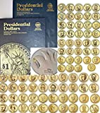 Presidential Coin Set P&D Mint 78 coins 2007 to date With Whitman Folders and BONUS