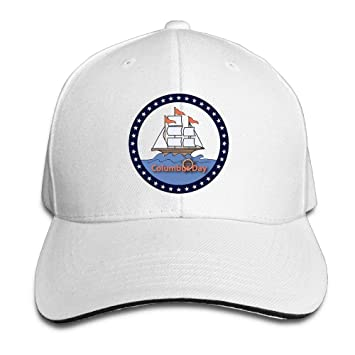 VTXWL Funny Hat Baseball Cap Unisex Sandwich Peaked Cap Happy Columbus Day Holidays Adjustable Cotton Baseball Caps: Amazon.es: Deportes y aire libre