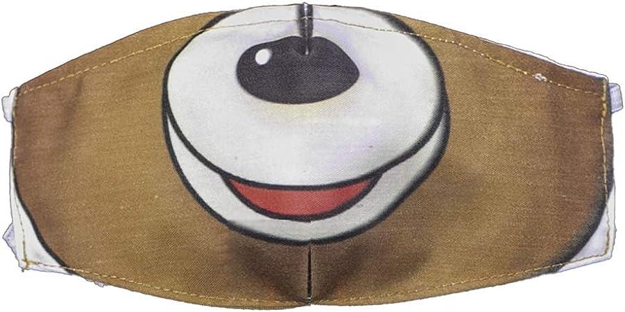 Imagen deMI HIJA Y YO Pack de 3 Unidades de Máscaras Infantiles, Decoradas con Motivos de Animales. De Tela, Lavables y Reutilizables. Incluye 6 filtros de Regalo