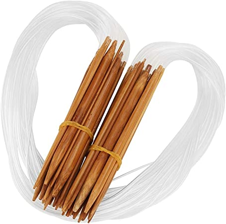 Smooth Carbonized Bamboo Circular Crochet Hooks Needles For Women 12 Sizes CA