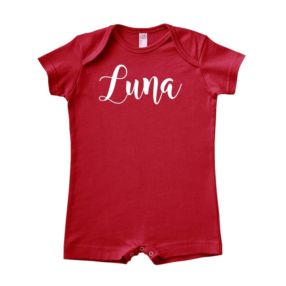 Personalized Name Baby Romper Luna