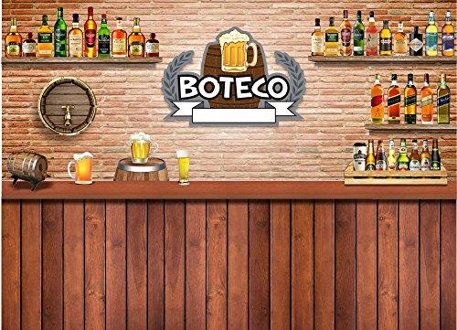 Painel Lona Festa 300x170cm Boteco 02