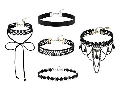 d01293268c84 AnazoZ Joyería de Moda 5 Piezas Choker Collar Gargantilla Para Mujer ...