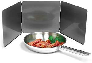 Norpro Nonstick 3 Sided Splatter Guard Cover Bacon Grease Shield 9X10