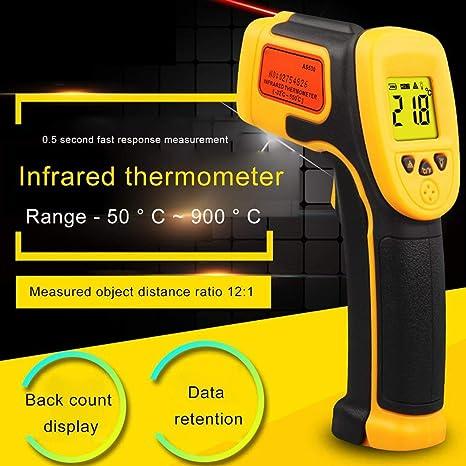 XINFULUK Termometro a infrarossi Basso consumo energetico Display LCD retroilluminato Funzione di blocco dati Display segno laser 1 Set
