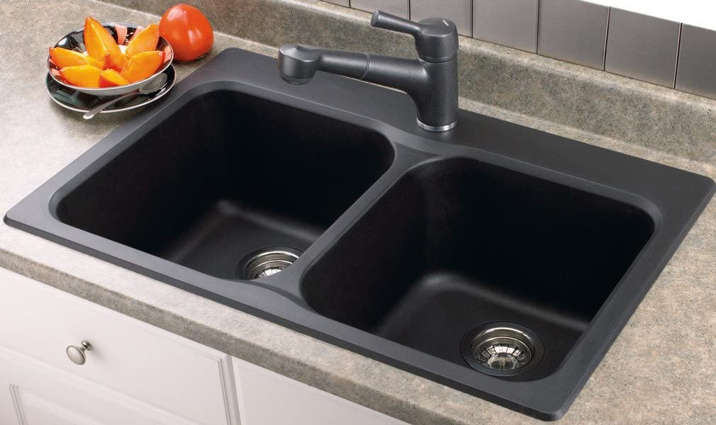 Blanco 400012 Vision 210 2 Bowl Drop In Silgranit Sink Anthracite Amazon Ca Home Kitchen