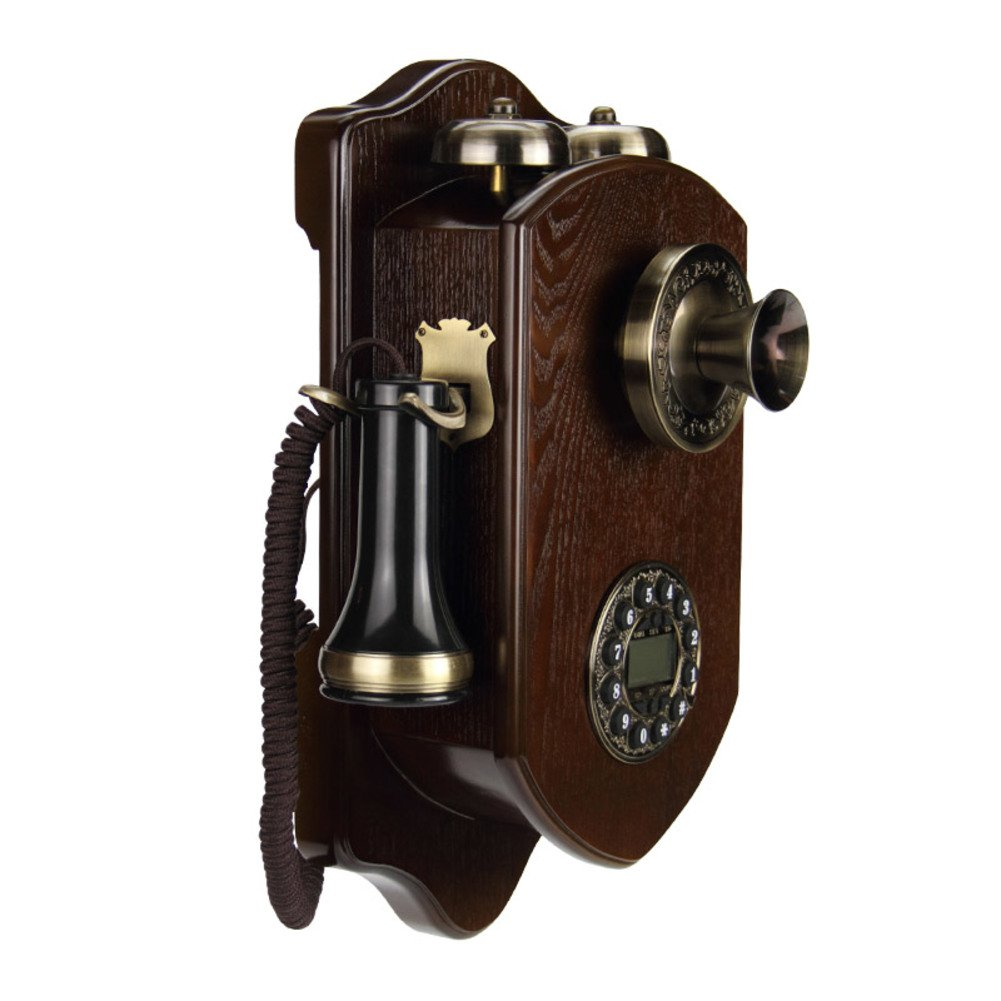 Retro Antique Country Wall Phone, Corded Retro Rotary dial Phone 19*38cm 7*15inch-A NANNAIJ ZYCPHONE
