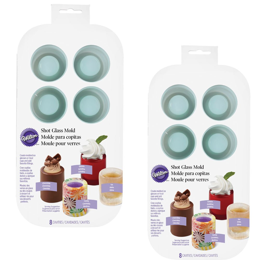 Amazon.com | (Set/2) Wilton Shot Glass Drink And Dessert Mold - Ice Glasses Treat Cups: Shot Glasses