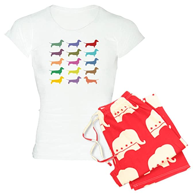 64f8dbd985bb Amazon.com  CafePress - Colorful Dachshunds - Womens Novelty Cotton ...