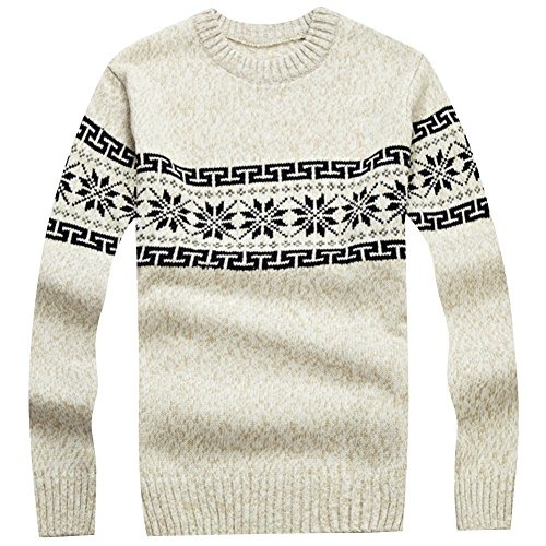 LETSQK Knitted Snowflake Festive Christmas product image