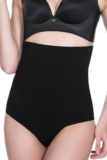 Las Mujeres De Cintura Alta Ropa Interior Tanga Fajas Bodys Control De Abdomen Black S