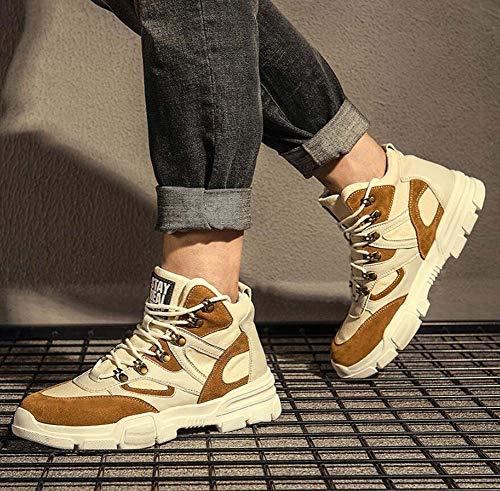 Color Brown La Zapatos Tamaño Al Transpirable 38 Redonda Up Aire Lace Ue De 44 Men A Tall Cómodos Top Snekers Libre Deporte Juego Shoes Punta qOSRw