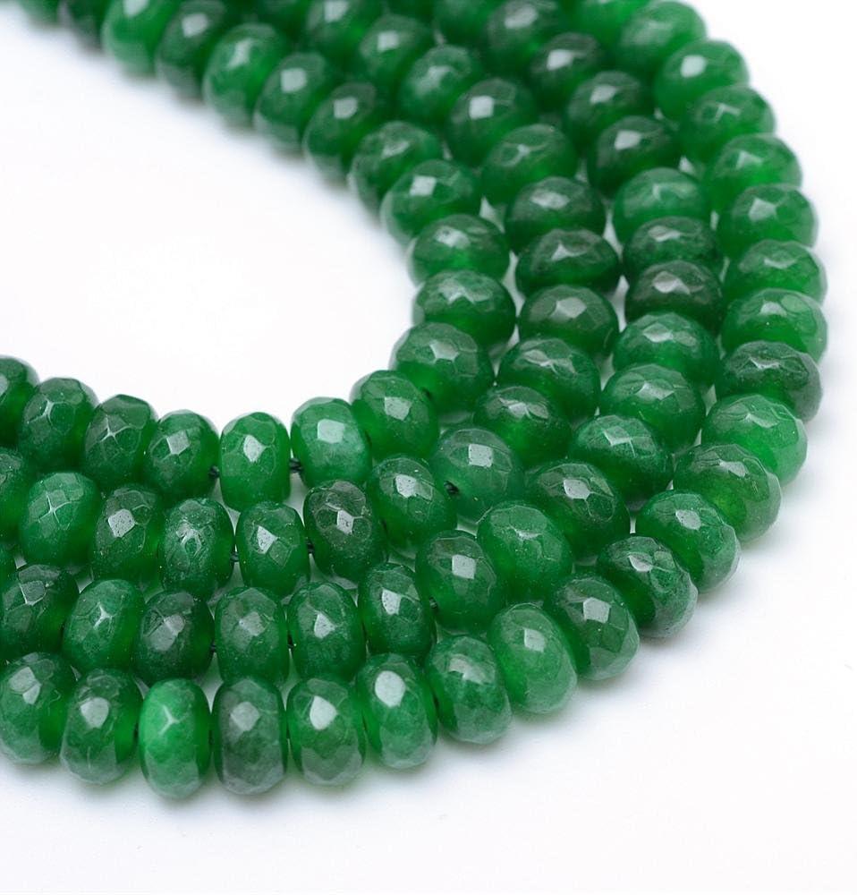 Perlin Piedras preciosas, perlas de ágata, piedra de 4 mm, color verde, 30 unidades, piedras semipreciosas, piedras preciosas facetadas, G126