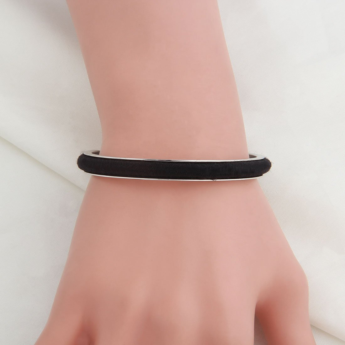 WUSUANED Youre My Person Hair Tie Grooved Cuff Bangle Bracelet for BBF Lovers Family