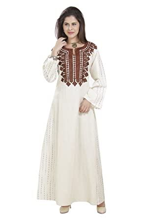 7e68c67ec58b MaximCreation Ethnic Home Gown Evening Wear Cotton Dress for Arabian Women  C-150 (XS